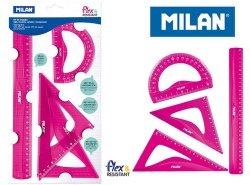 Zestaw geometryczny Milan 4 sztuki różowe