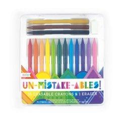 Kredki ołówkowe wycieralne bezbłędne kredki, Unmistakables, 15 kredek + gumka