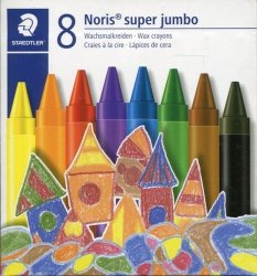 Kredki woskowe Noris Club super Jumbo 8 kolorów