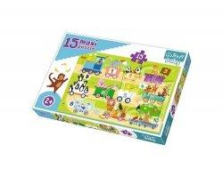 Puzzle Maxi Pociąg z cyferkami 15