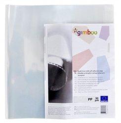 Okładka na książki GIMBOO A4 z samoprzylepnym brzegiem 30,5x55 cm transparentna 10 sztuk