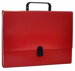 Teczka-pudełko OFFICE PRODUCTS PP A4 5cm, z rączką i zamkiem, bordowa