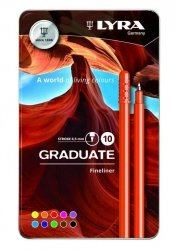 Pisaki Lyra Graduate Fineliner 10 kolorów