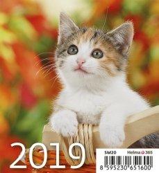 Kalendarz biurkowy Mini Kotki 2019 10 sztuk