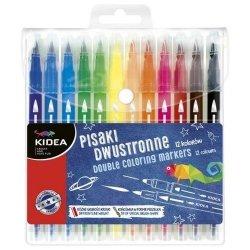 Pisaki dwustronne Abrush 12 kolorów