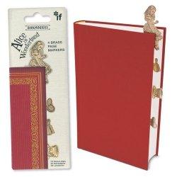 Bookminders Alice in Wonderland - zestaw 4 metalowych zakładek
