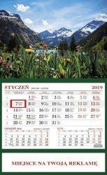 Kalendarz 2019 jednodzielny Alpy