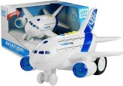 Duży Samolot z Napędem Świeci Gra Biały 1:120