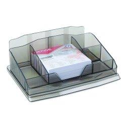 Przybornik na biurko z karteczkami plastik dymny Office Products