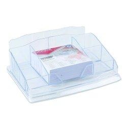 Przybornik na biurko z karteczkami plastik transparentny Office Products