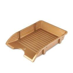 Szufladka na biurko niełamliwa PP A4 złota