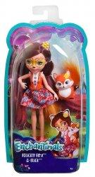 Barbie Enchantimals Lalka+zwierzątko Felicity Fox & Flick