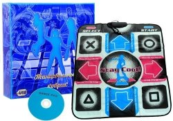 Mata taneczna do tańczenia USB CD 80 cm x 90 cm