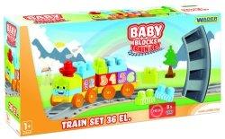 Baby Blocks Railway 1.45m Kolejka 36 elementów