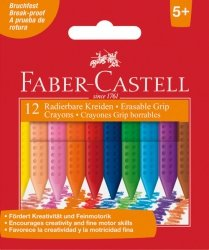 Kredki Grip Trójkątne Woskowe 12 Kol. Op. Karton Faber-Castell