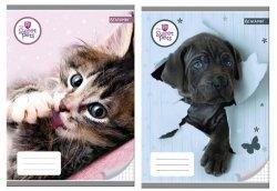 Zeszyt A5 w kratkę 32 kartki Sweet Pets 10 sztuk