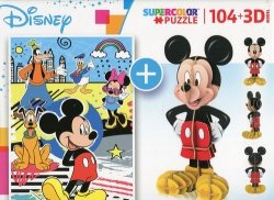 Puzzle 104 + 3D Model Mickey Mouse