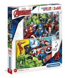 Puzzle Supercolor The Avengers 2x60