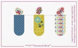 Zakładki Magnetyczne Motyle 3 sztuki