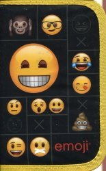 Piórnik z wyposażeniem jednokomorowy Emoji 11
