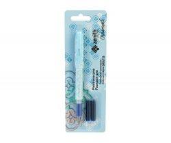 Pióro wieczne Zenith Ornament blister niebieski + naboje