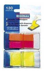Zakładki indeksujące z dyspenserem Donau mix kolorów
