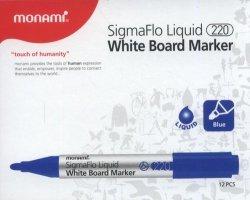 Marker do tablic Monami SigmaFlo 220 niebieski 12 sztuk