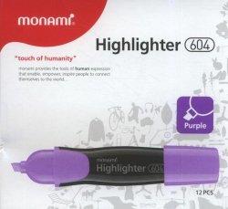 Zakreślacz Monami 604 fioletowy 12 sztuk