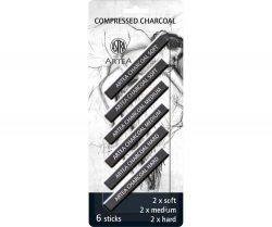 Zestaw węgli prasowanych 6 sztuk czarny