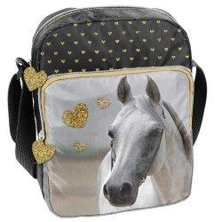 Torebka na ramię Horse złote serduszka