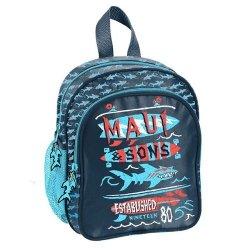 Plecak przedszkolny Maui and Sons granatowo-czerwony