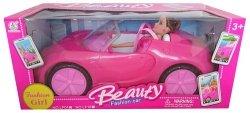 Lalka Fashion Girl Beauty z samochodem