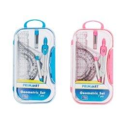 Zestaw szkolny geometryczno-plastyczny 15cm 7 elementów