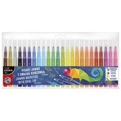 Pisaki Jumbo z owalną końcówką 24 kolory