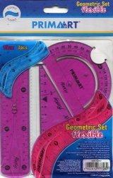 Zestaw geometryczny szkolny elastyczny 15 cm 3 części