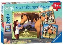 Puzzle Spirit przygody na koniach 3x49