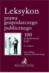 Leksykon prawa gospodarczego publicznego.