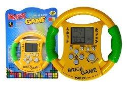 Gra elektroniczna Bricks kierownica żółta