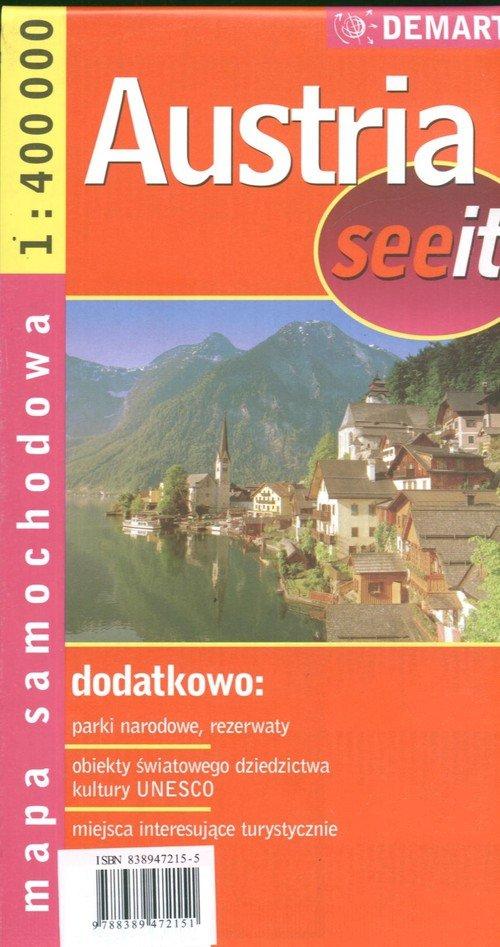 Austria 1:400 000 mapa samochodowa