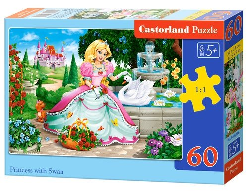Puzzle Princess with Swan 80