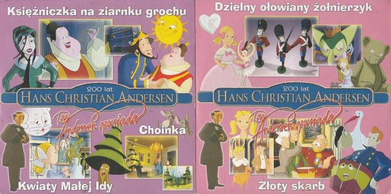 Hans Christian Andersen [2VCD] Dzielny ołowiany żołnierzyk, Złoty skarb, Księżniczka na ziarnku grochu, Choinka, Kwiaty Małej Idy