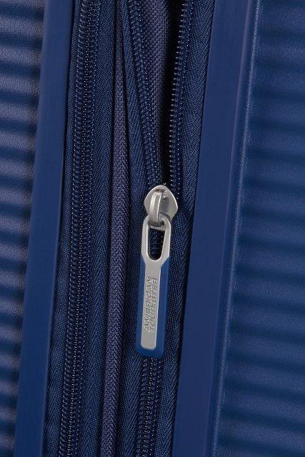 Bagaż posiada możliwość zwiększenia swojej obiętości poprzez otwarcie dodatkowego suwaka