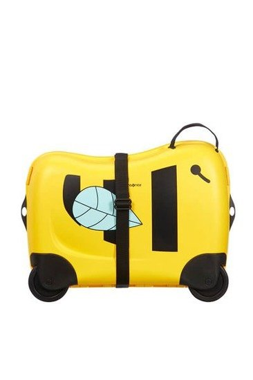 Bagaż posiada pasek którym można spiąąć dodatkowo walizkę, może służyć do noszenia na ramieniu lub do prowadzenia bagażu