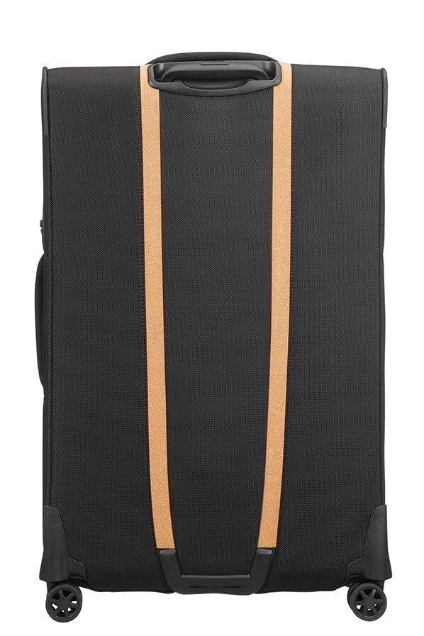 Wykończenia korkowe, walizka posiada cztery koła