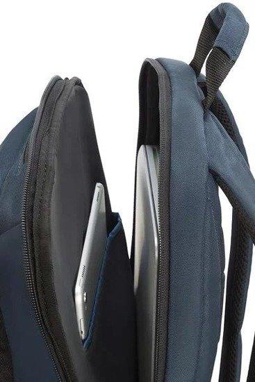 plecak posiada kieszeń na laptopa, tablet, kieszeń organizacyjną, kieszeń na okulary lub klucze
