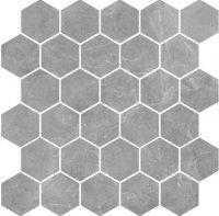 Silver Grey Mozaika Heksagon 27x27