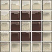 Glass Beige Brown Mosaic B New 14,8x14,8