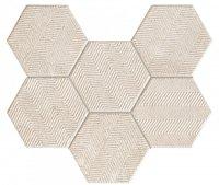 Sfumato Hex Mozaika Ścienna 28,9x22,1