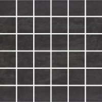 Concrete Flower Graphite Mosaic 29,7x29,7