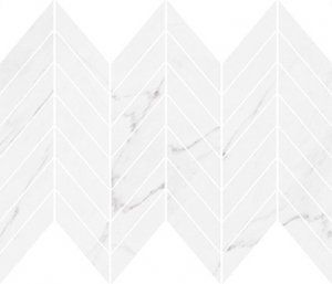 Marinel White Chevron Mosaic Glossy 29,8x25,5